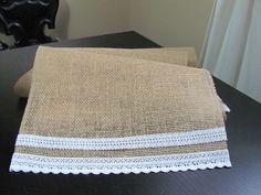 Simple Lace & Burlap Table Runner  Wedding by SilverStarfishDesign, $8.00