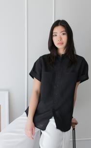 1ad1f3bf9a6 The Philosopher - Wayward Fit Women s Black Linen Button-Up Shirt. Sarah  Brewster · Wish List