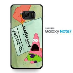 Pattrick Star Do Nothing To Do List TATUM-8500 Samsung Phonecase Cover For Samsung Galaxy Note 7