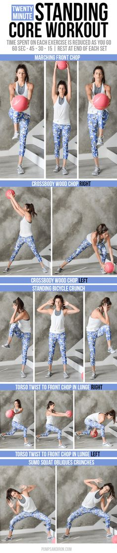 Standing Core Workout - no crunches needed!