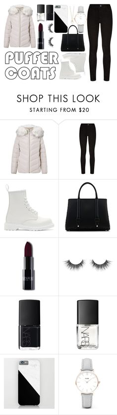 """Puffer Coats"" by amyrobinson599 on Polyvore featuring Miss Selfridge, Paige Denim, Dr. Martens, La Perla, NARS Cosmetics and CLUSE"
