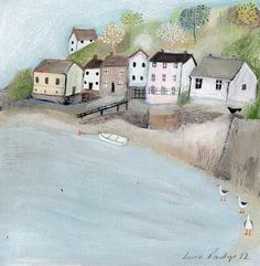 Aberdovey Original Painting by Louise Rawlings