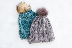 While it looks knit, this free crochet hat pattern for beginners is super easy. If you can crochet a rectangle, you can make this unisex beanie pattern!