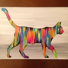 Original abstract art by Rita Ortloff. www.ritaortloff.com. #cat #art #abstract