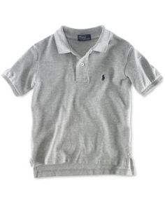 Ralph Lauren Boys' Pique Polo, Boys 8-20 - New Grey Heather XL