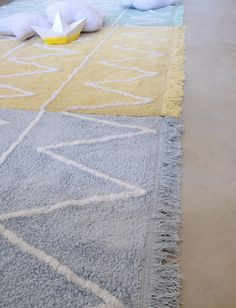 washable rug hippy lavable hippy yellow - Washable Rugs