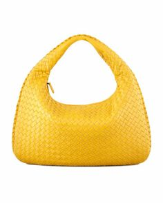 Intrecciato Medium Hobo Bag, Yellow by Bottega Veneta at Bergdorf Goodman.