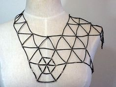 Black Beaded Bib Harness Necklace  Quamby Designs by quambydesigns, $250.00