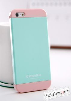 Add Case for iPhone 5/5S in Blue and Pink