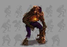 Study digital  painting monsters.