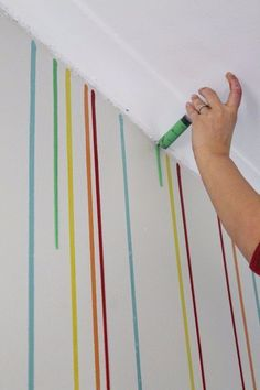 Feature Wall Paint Ideas Guide and Inspiration is part of Diy wall painting - If you need feature wall paint ideas or you're simply looking for future inspiration, this list has a huge variety of creative approaches to DIY painting Diy Wand, Mur Diy, Diy Wall Painting, Painting Canvas, House Painting, Painting Designs On Walls, Room Paint Designs, Painting Walls Tips, Creative Wall Painting