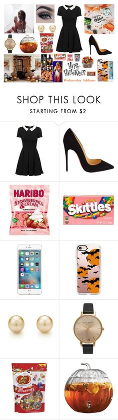 """""""Halloween Party with all Boys 🎃🍭"""" by louisericoul ❤ liked on Polyvore featuring Christian Louboutin, Jouer, GET LOST, River Island, Casetify, Tiffany & Co., Topshop and Jelly Belly"""