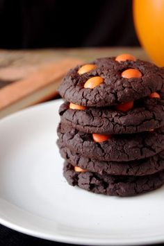 Soft & Chewy Chocolate Halloween Cookies | Nutritionist in the Kitch