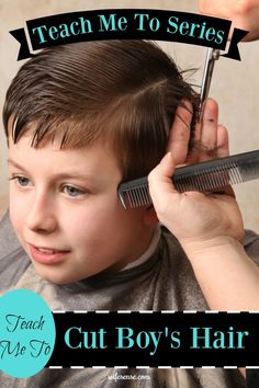 Save LOTS of money by learning how to cut boy's hair yourself.