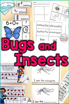 Teach students about bugs and insects while still targeting math, reading and vocabulary. This unit is perfect for the visual learner who needs hands on activities in order to learn and generalize skills. These activities are especially helpful for special education classes, life skills programs, students with autism and multiple disabilities, autism activities, special education centers, functional academics and more!