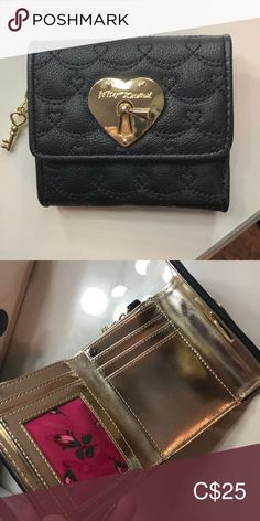 Betsey Johnson Small Wallet Never used. Cute key latch and accent. Betsey Johnson Bags, Small Wallet, Wallets, Fashion Tips, Fashion Trends, Key, Accessories, Things To Sell, Black