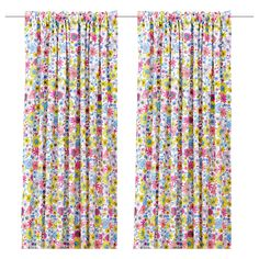 BARBRO Pair of curtains - IKEA- maybe a little crazy for the room, but may work