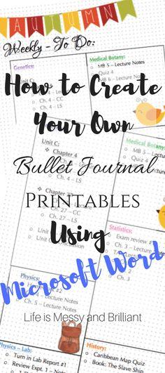 Come creare il tuo proiettile ufficiale Stampabili Utilizzando Microsoft Word