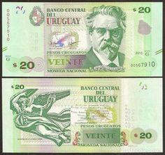 URUGUAY. 20 PESOS 2015. S/C. CON MARCA PARA CIEGOS. (Numismática - Notafilia - Billetes Extranjeros)