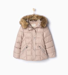 ZARA - NEW IN - Quilted jacket with furry detail