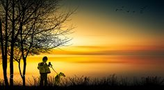 boy and dog 1 by Bucco Costel Fine Art, Celestial, Sunset, Boys, Silhouettes, Outdoor, Sunsets, Baby Boys, Outdoors