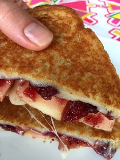 I love all things cheese. Just give me cheese and I'm a happy camper. And believe me - this particular grilled cheese combo elevates the cheese to the whole new level. Sweet and sour cranberry sauce, crunchy juicy apple, golden-brown crispy crust and gooey stretchy melted cheese - can't get any better than that!