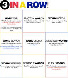 vocabulary game ideas