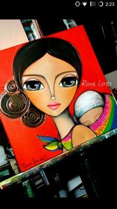 Romi Lerda Frida Art, Banksy Art, Impressionist Art, Whimsical Art, Art Plastique, Art Sketchbook, Art Pictures, Art Girl, Painting & Drawing