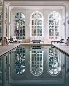 Indoor Swimming Pool Ideas - You want to build a Indoor swimming pool? Here are some Indoor Swimming Pool designs and ideas for you. Indoor Swimming Pools, Swimming Pool Designs, Lap Swimming, Lap Pools, Backyard Pools, Pool Landscaping, Architectural Digest, Future House, Dream Home Design