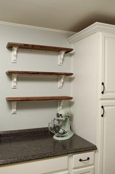 Building Custom Open Shelving For The Kitchen | ItTakesTwoBlog.com