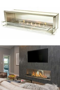 The Bio Flame 72 Firebox SS Built-in Ethanol Fireplace The Bio Flame 72 Firebox SS Ethanol Fireplace The post The Bio Flame 72 Firebox SS Built-in Ethanol Fireplace appeared first on Raumteiler ideen. Fireplace Tv Wall, Ethanol Fireplace, Fireplace Inserts, Living Room With Fireplace, Fireplace Design, Linear Fireplace, Modern Fireplaces, Fireplace Outdoor, Traditional Fireplace