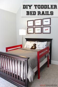 DIY toddler bed rails built for under $15.