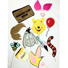 Winnie the Pooh photobooth props by LeStudioRose on Etsy