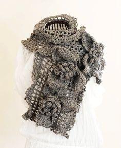 Unique+Crochet+Patterns | PDF CROCHET PATTERN Scarf Ice Queen - beautiful unique large feminine ...
