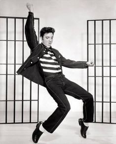 """New Glossy Black and White Photo Elvis in Jail House Rock  8"""" x 10"""""""