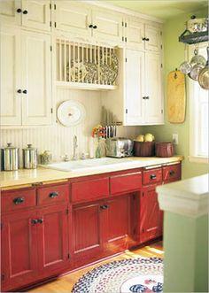 Colorful-Kitchen-Design-Ideas-ktichen-in-beige-and-pink, Photo  Colorful-Kitchen-Design-Ideas-ktichen-in-beige-and-pink Close up View.