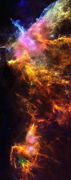 Orange Smoke Rising Nebula