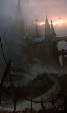 Castle in the fog by daRoz.deviantart.com on @DeviantArt