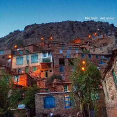 Beautiful Village of Zhivar in the Hewraman District in the Province Kurdistan, Iran.