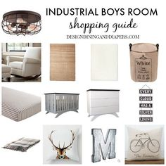 Rustic Toddler Boys Room - Tons of great tutorials and links to sources