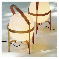Cesta Table Lamp Cherry Wood White Opal Glass Lampshade - The Conran Shop Santa Cole, Lantern Designs, Style Rustique, Structure Metal, Look Plus, Decorative Objects, Designer, Lanterns, Opal