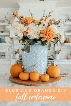 With Fall approaching, I decided to create blue and orange fall tablescapes this year. This would make a perfect Thanksgiving tablescape. Teal and orange are some of my favorite colors to combine. This beautiful fall decor with a combination of blue and orange is one of my favorite tablescapes so far. For more simple Fall tablescapes, visit Home with Holly J. Thanksgiving Decorations Outdoor, Thanksgiving Table Settings, Thanksgiving Crafts, Halloween Decorations, Thanksgiving Tablescapes, Thanksgiving 2020, Looks Halloween, Halloween Recipe, Women Halloween