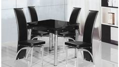 Extending Dining Table (Table only) BLACK SMALL furniture Sale