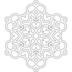 Don't Eat the Paste: Heart Snowflake Coloring Page