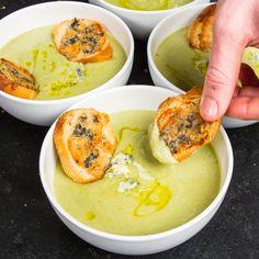 Broccoli and Saint Agur soup