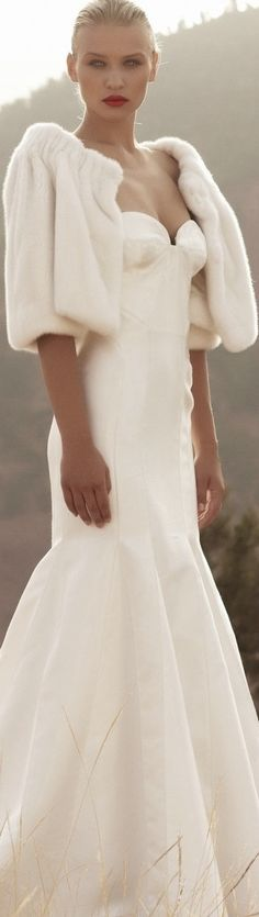 Not a big fan of the sweetheart neckline on this dress, but the fit is stunning. Add sleeves to give more of that winter feel