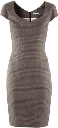 H Career Dress in Brown