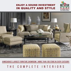 enjoy a sound investment in Quality & Style  Ahmedabad's Largest #Furniture #Showroom - Better Home Furniture  #QualityFurniture #FurnitureShowroom #BetterHome