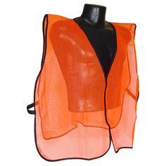 Radians Orange Mesh Safety Set Hunting Vest, Orange, One Size Fits All, Mesh Net Hunting Vest, Archery Hunting, Orange Vests, Mesh Netting, Peach Colors, Mesh Fabric, One Size Fits All, Leather Backpack, Safety
