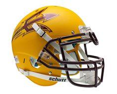 Arizona State Sun Devils Schutt Authentic XP Full Size Helmet - Gold Alternate Helmet 1